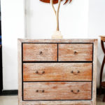 Rustic White Washed Drawer Chest