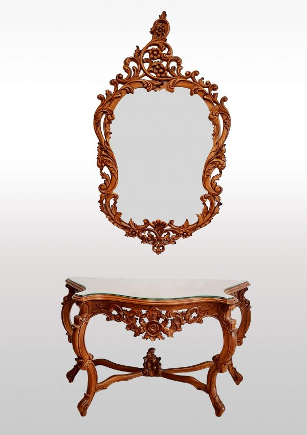 Deluxe Console Tables with Mirrors