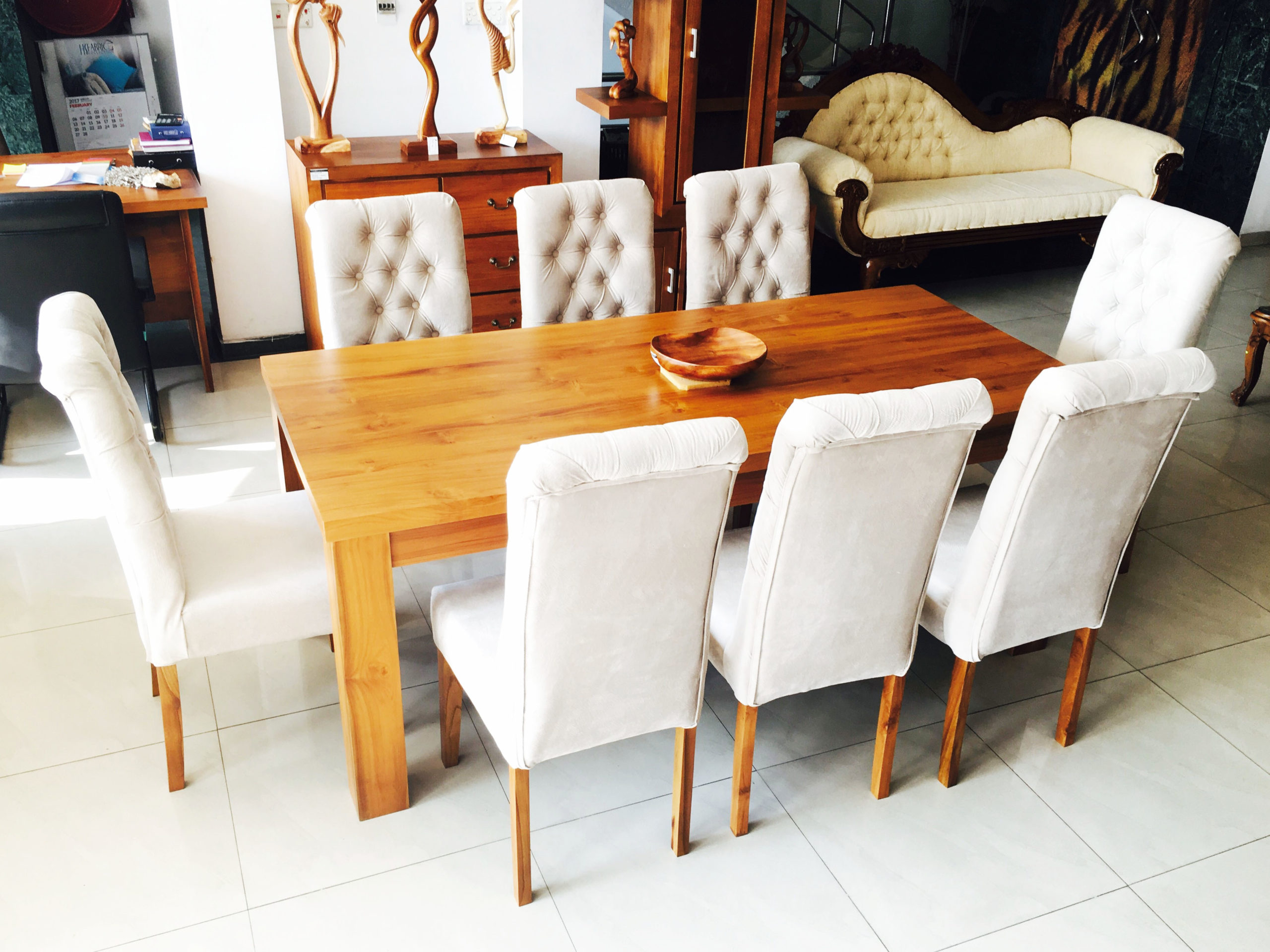Modern Fabric Dining Table