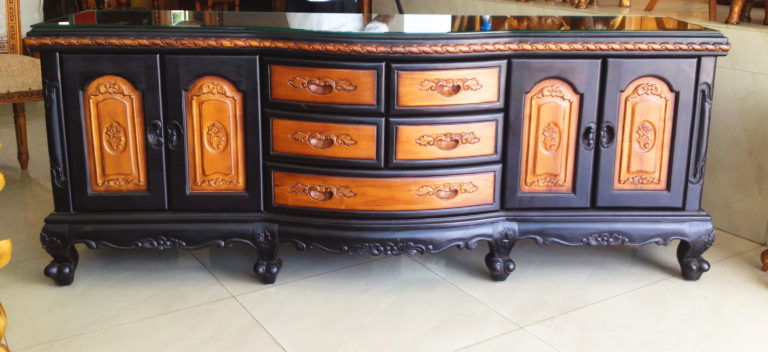 Saleena Antique Two Toned Sideboard