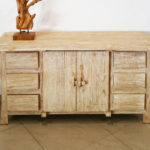 Rustic Whitewashed Sideboard.