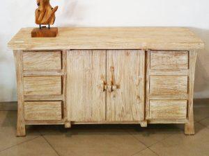 Rustic whitewashed sideboard