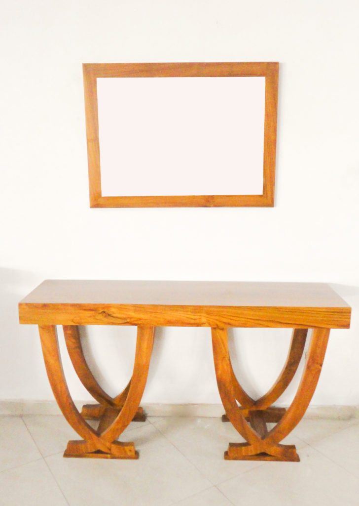 Modern Console Mirror with Table