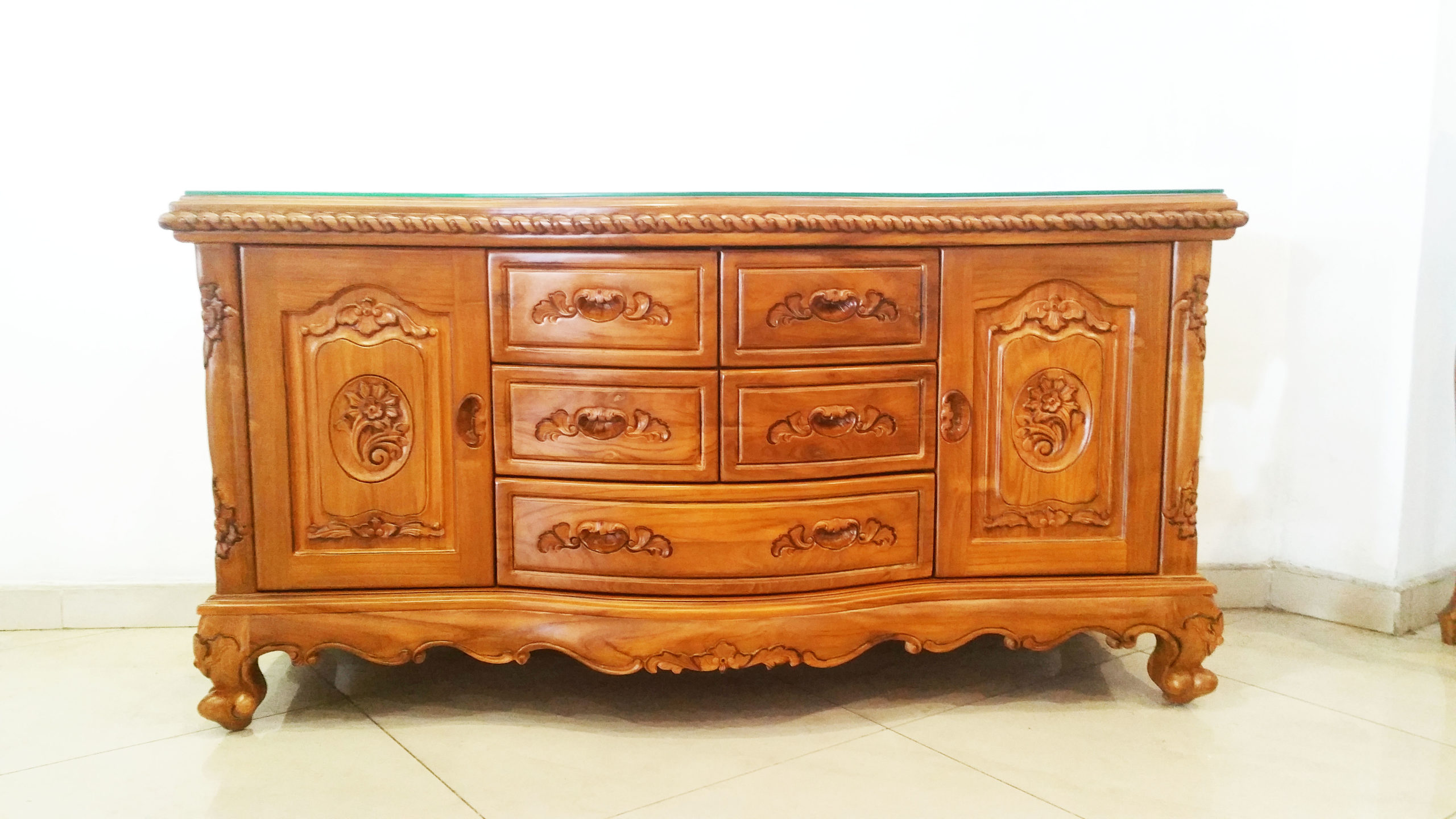 antique teak sideboard