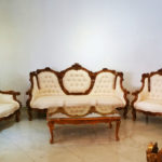 Feedrom Rose Antique Teak Sofa Set