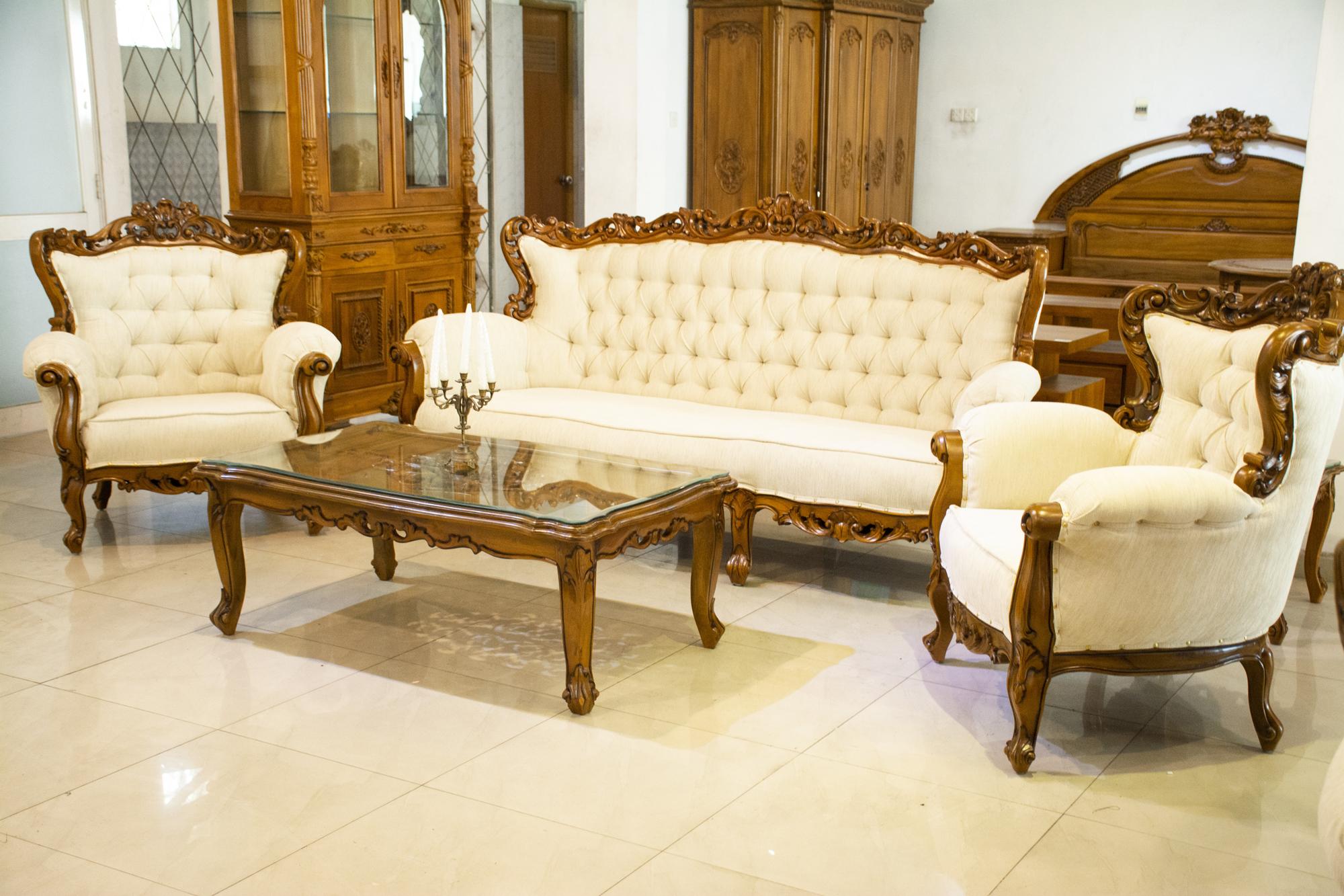 Amerika Classic Teak Sofa Set | Sri Lanka | Sandella Furniture