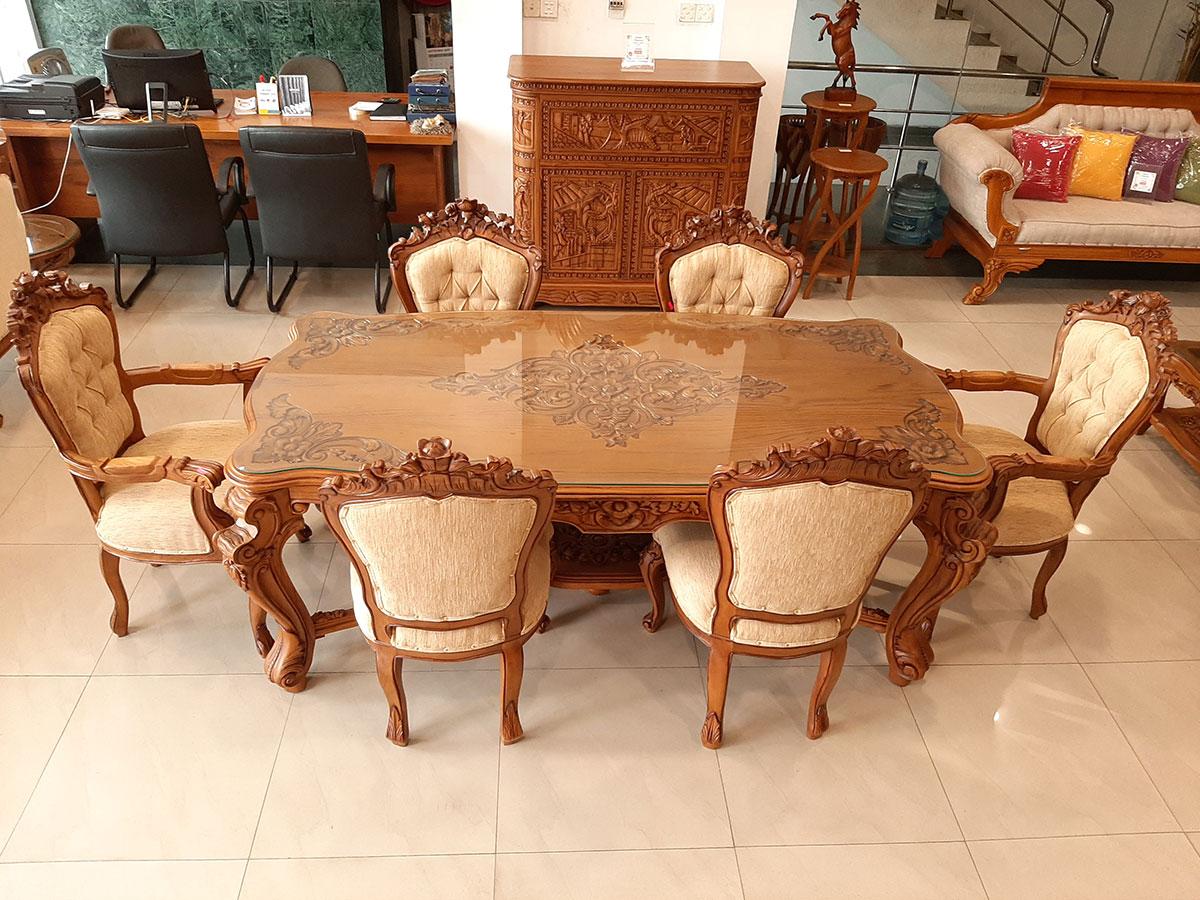 Six seater dining table sri lanka