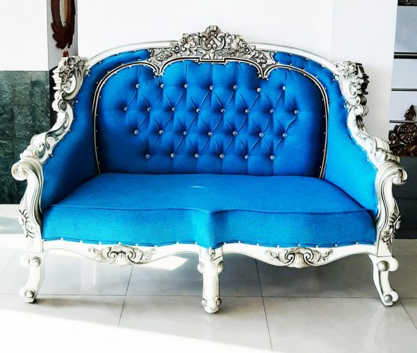Silver sofa couch
