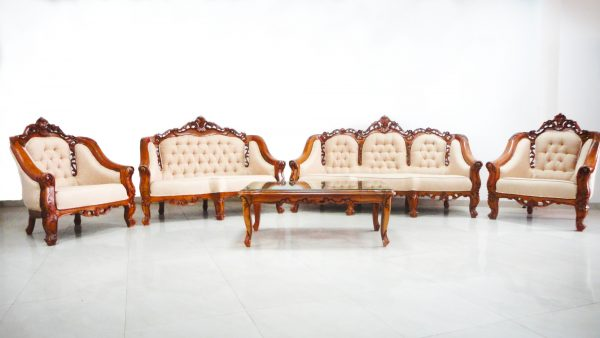 Monaco Slendang Antique Teak Sofa Set