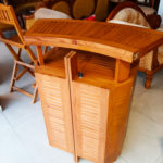 Portable Bar Cabinet with 4 Chairs