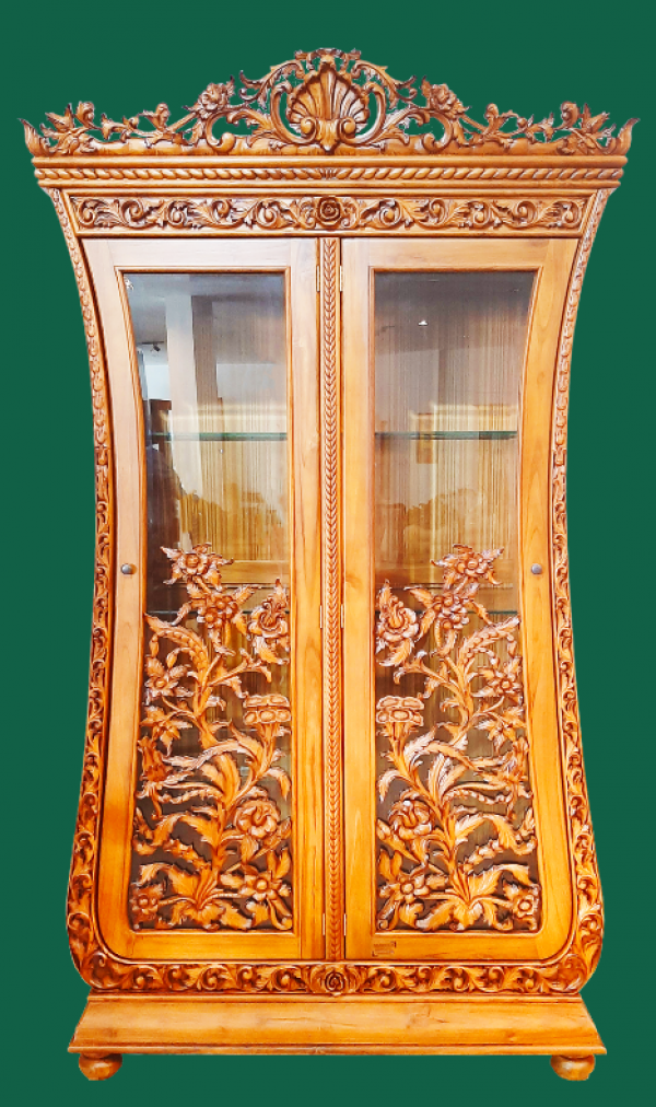 French Display Cabinet-Baroque Style